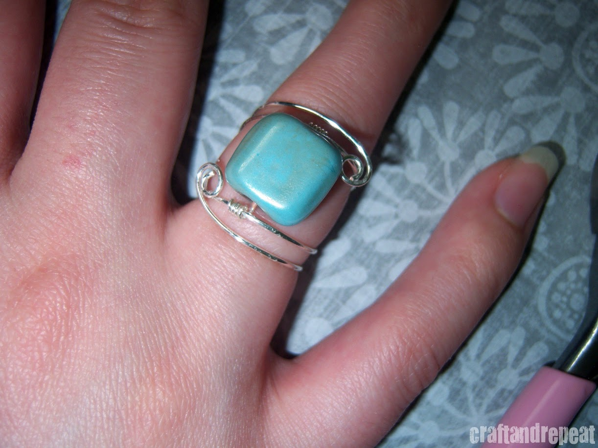 Wire Wrapped Ring – Free Tutorial | craftandrepeat