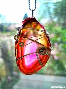 Wire Wrapped Agate Pendant