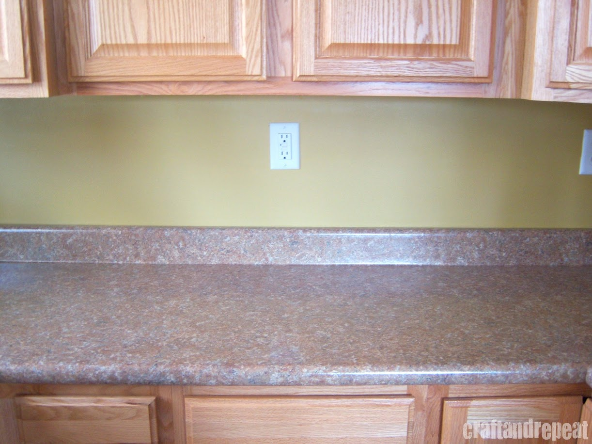 Six dollar kitchen countertop transformation craftandrepeat for Kitchen countertops