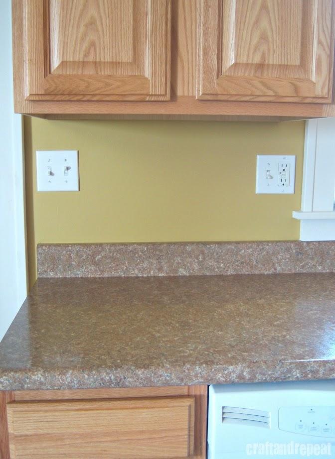 Wallpaper For Kitchen Countertops : Six dollar kitchen countertop transformation craftandrepeat