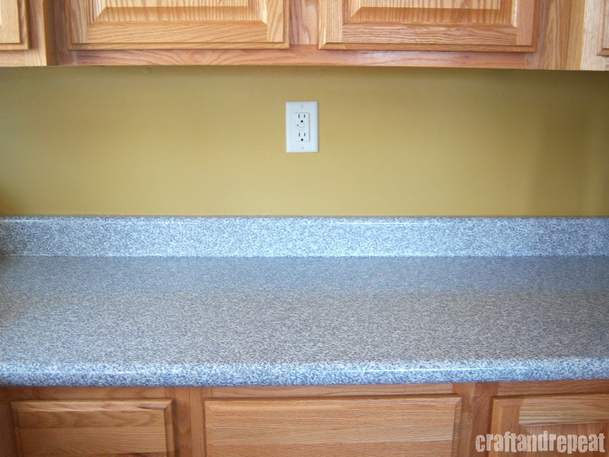 Six Dollar Kitchen Countertop Transformation | craftandrepeat