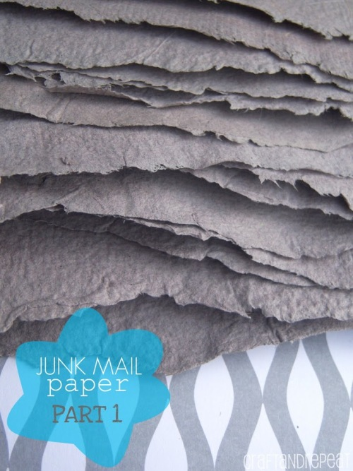 Junk Mail Paper - Part 1 of a series.  Paper making and other ways to recycle junk mail!