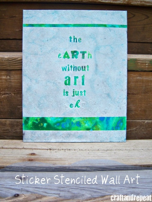 The Earth Without Art DIY Wall Art | https://craftandrepeat.wordpress.com