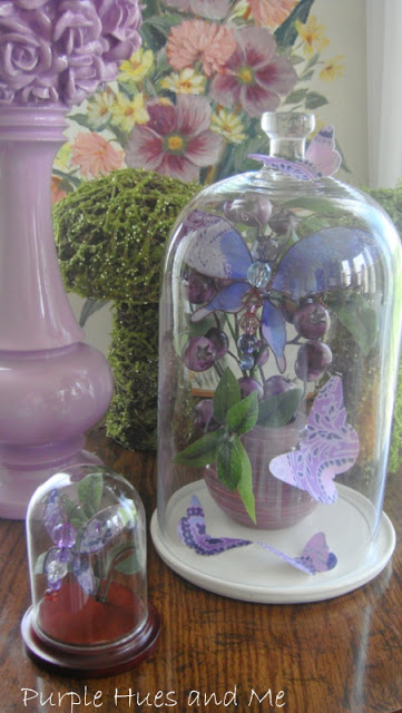 Fabric Butterfly Cloches