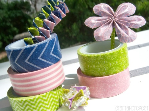 Washi tape floral embellishments. Tutorials with lots of pictures.