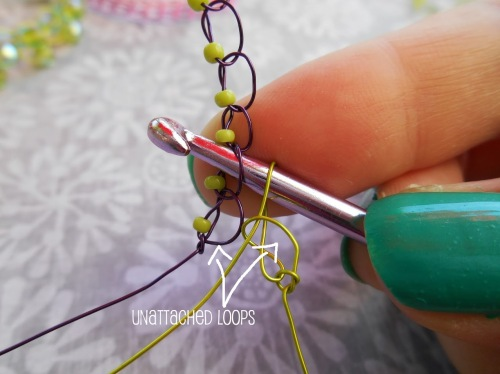 joining wire crochet strands
